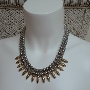 Necklace Fashion Jewelry Silver and Gold Tone